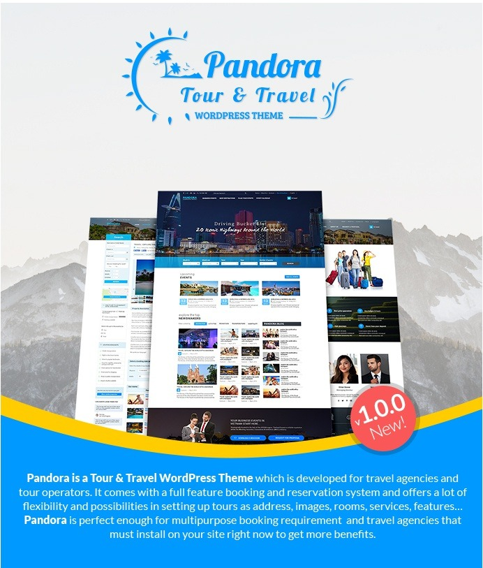 Pandora Tour & Travel WordPress Theme