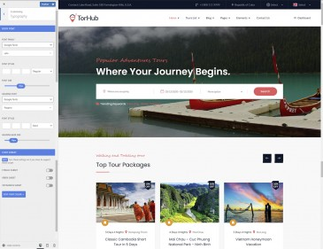 screenshots WP TRAVEL | Travel Agency Wordpress Theme and Booking Solution