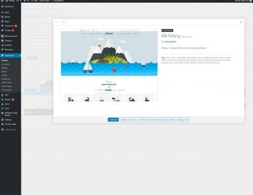 screenshots Fishing Store For WordPress Theme