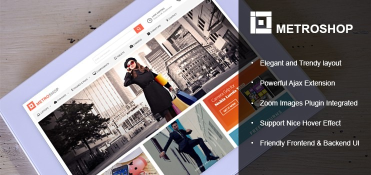 Joomla Virtuemart Responsive Metro Shop Template