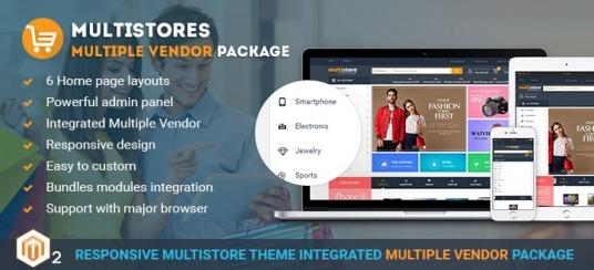 Multistore Marketplace Magento 2 Theme Integrated Multi-Vendor [Enterprise]