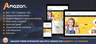 Amazon Theme Integrated Multiple Vendor Package For Magento 2