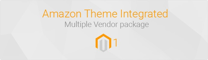 Amazon Theme Integrated Multiple Vendor Package For Magento 1&2