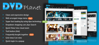 Magento DVD Shop Theme