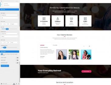 screenshots Retreat Club – The Wordpress Theme For Beauty Salon