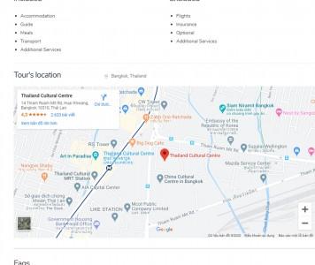 screenshots WordPress Tour Operator Pro