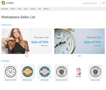 screenshots Magento 2 Marketplace Multi Vendor Module