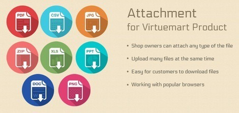 Attachment for Virtuemart Product