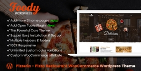 Pizzeria - Pizza Restaurant WooCommerce Wordpress Theme