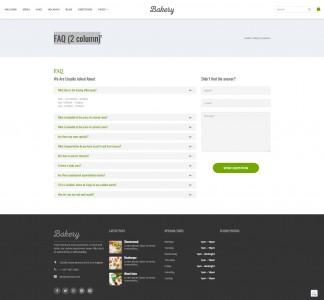 screenshots Bakery Goods - WordPress Cake & Food Theme