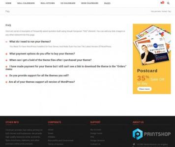 screenshots Magento Calendar Printing Website Theme