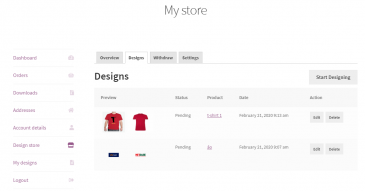 screenshots Online Marketplace For Graphic Design & Printing