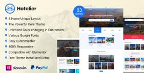 Hotelier –  WordPress Hotel Booking Theme