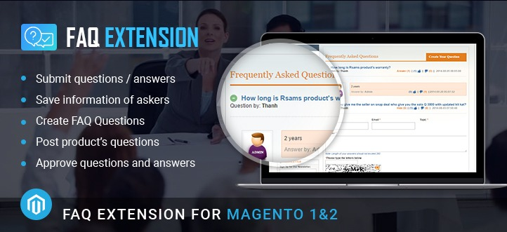 Magento FAQ Extension