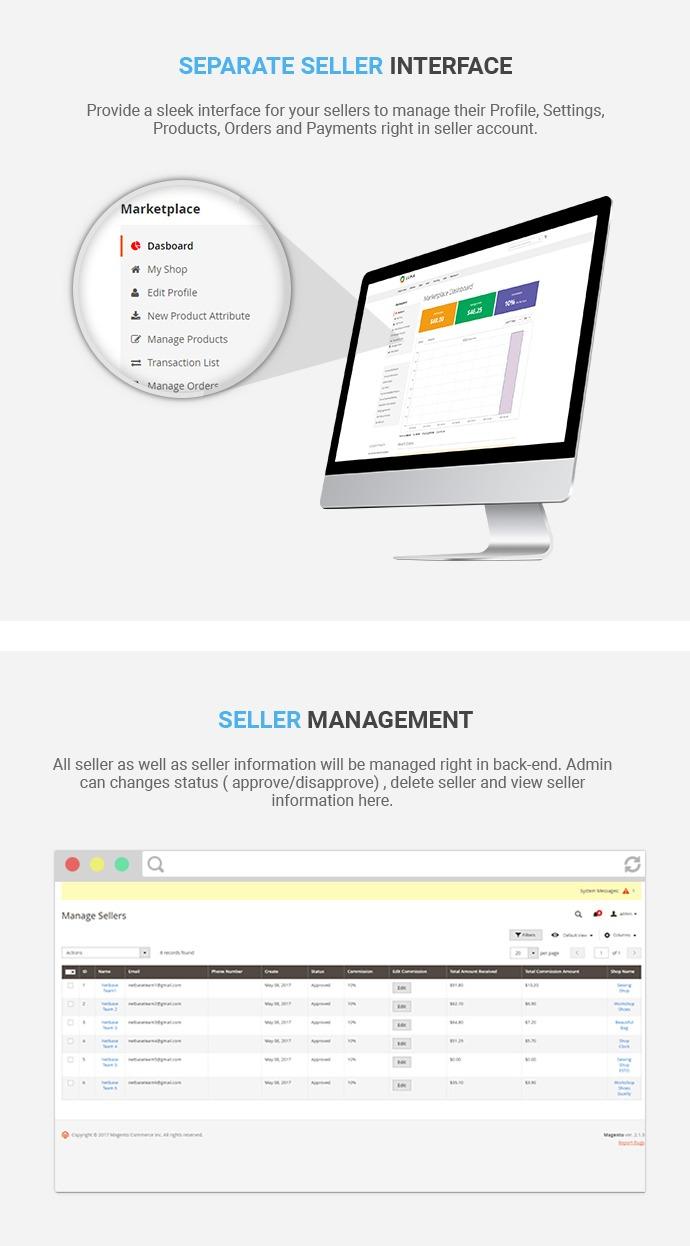Marketplace Multi-Vendor Module for Magento 2