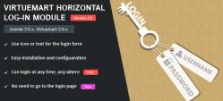 Virtuemart Horizontal Log-in Module