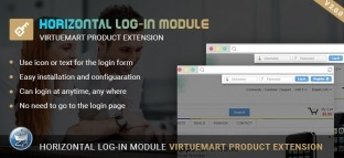 Virtuemart Horizontal Log-in Module