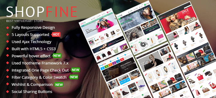 Shopfine - Responsive Multipurpose VirtueMart Template