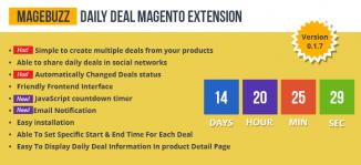 Daily Deal Magento Extension - MageBuzz