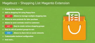 Shopping List Magento Extension - MageBuzz