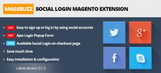 Social Login Magento Extension - MageBuzz