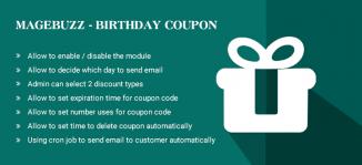 Birthday Coupon Magento Extension - Magebuzz