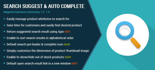 Search Suggest and Auto Complete Magento Extension - MageBuzz