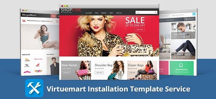 Joomla Virtuemart Template Installation