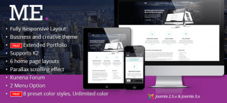 Multi-Purpose Responsive Joomla Template - JM Me