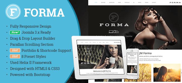 Forma Responsive Joomla Template - JM
