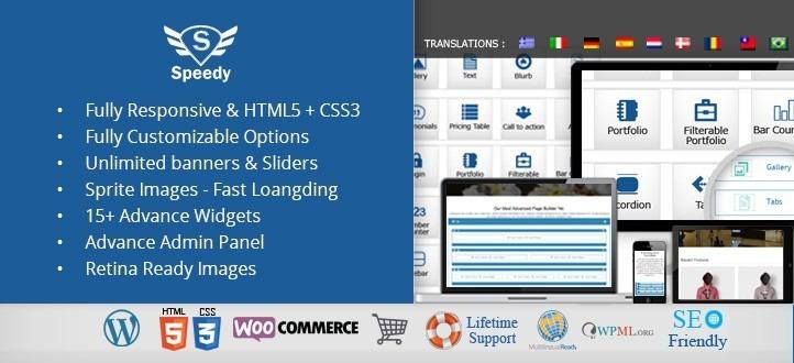 Speedy Multipurpose Page Builder Responsive WordPress Theme
