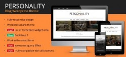 Personality WordPress Blog Theme - OrdaSoft