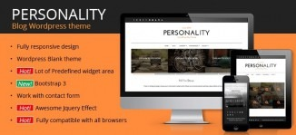 Personality WordPress Blog Theme - OrdaSoft