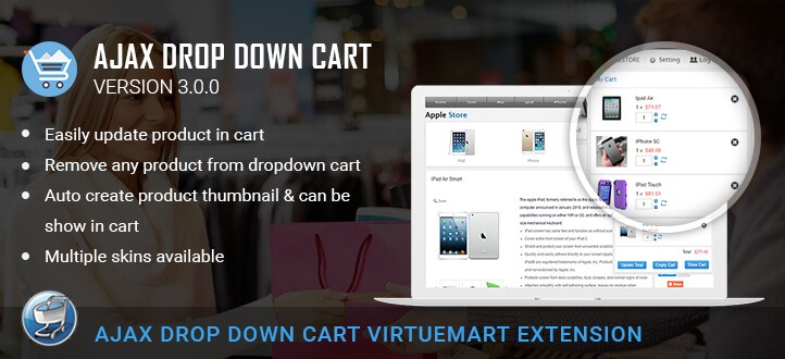 Ajax Drop Down Cart for Virtuemart