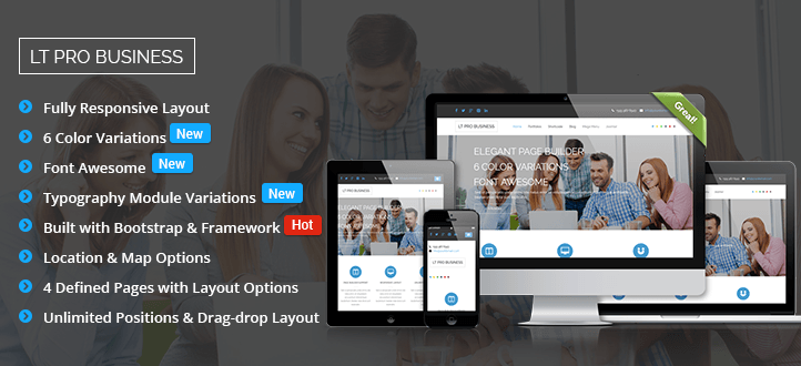 LT Pro Business - Premium Business Joomla Template