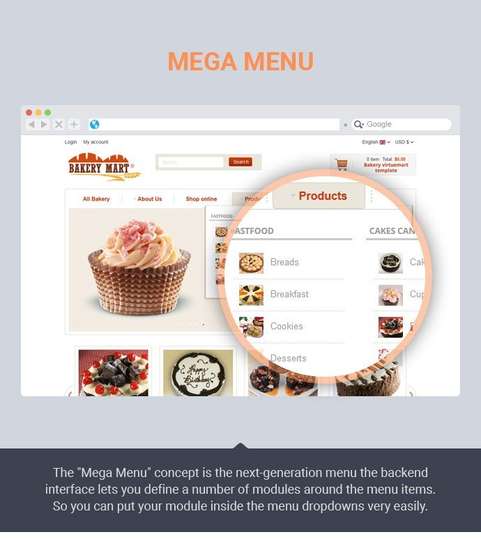 Joomla Bakery Virtuemart Template