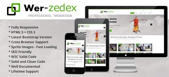 Wer Zedex Responsive Portfolio Wordpress Theme