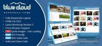 Creative Blue Cloud Blog WordPress Theme - GAM Themes