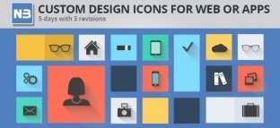 Custom Design Icons for Web or Apps