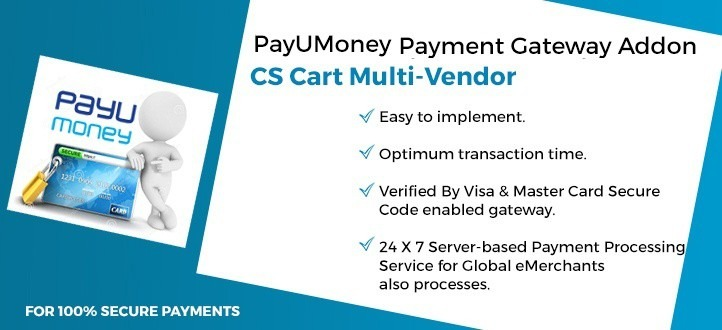CS-Cart Multi Vendor PayUMoney Payment Gateway Add-on