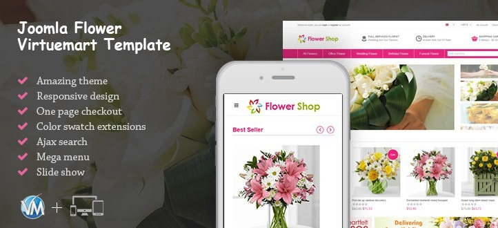 Responsive Flowers Online Shop Template