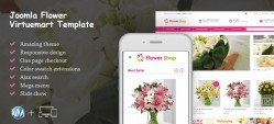 Virtuemart Responsive Flowers Online Shop Template