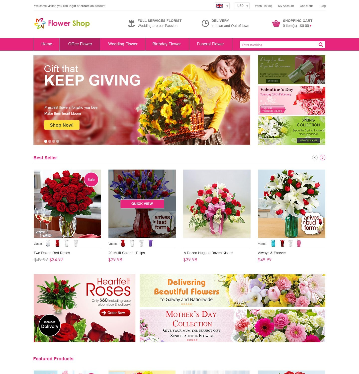 Floristry, mistaken, the compilation of bouquets: a selection of sites