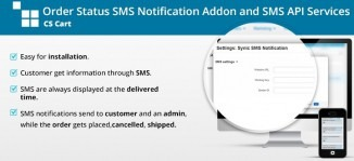 CS-Cart Order Status SMS Notification Addon and SMS API Services