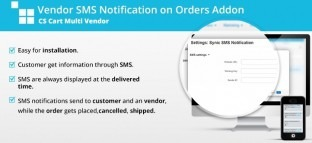 Vendor SMS Notification on Orders Addon for CS Cart Multi Vendor