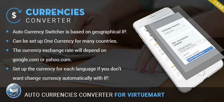 Auto Currencies Converter for Virtuemart