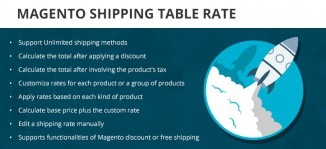 Magento Shipping Table Rate Extension