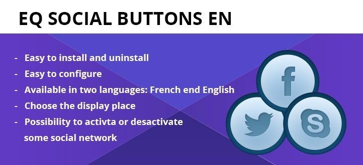 EQ Social Buttons Joomla Extension