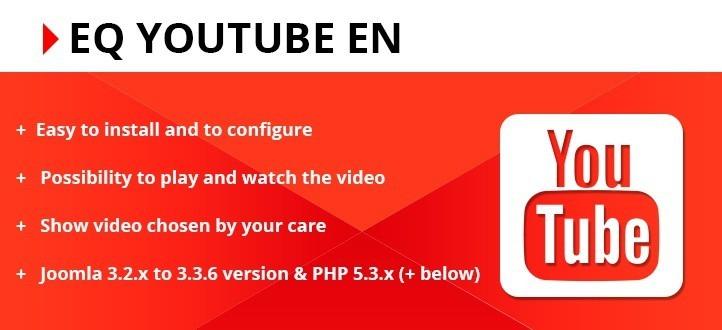 EQ Youtube EN Joomla Extension