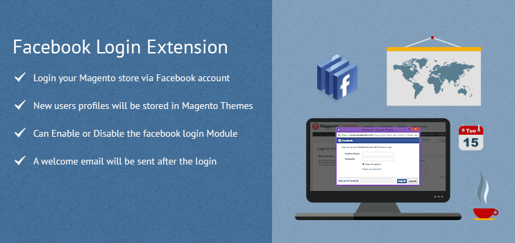 Magento Facebook Login Extension